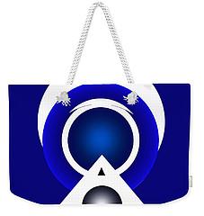 Weekender Tote Bag featuring the digital art 2018 Blue by John Krakora