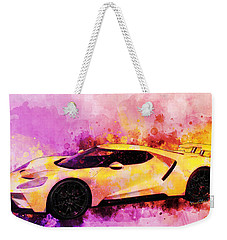 2018 Ford Gt Watercolour Whatta Ride Weekender Tote Bag