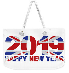 2019 Happy New Year England Flag Illustration Weekender Tote Bag