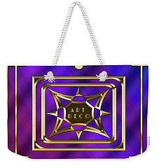 Weekender Tote Bag featuring the digital art 2020 Deco 1 by Chuck Staley