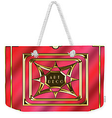 Weekender Tote Bag featuring the digital art 2020 Deco 2 by Chuck Staley