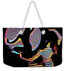 2039s-mak Female Figure In Spotlight Rendered In Composition Style Weekender Tote Bag