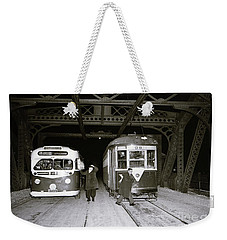 207th Street Crosstown Trolley Weekender Tote Bag by Cole Thompson