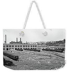 207th Street Railyard Weekender Tote Bag by Cole Thompson
