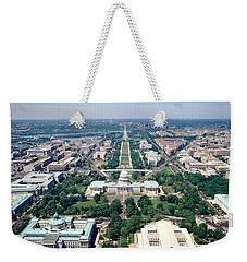 Aerial View Of Buildings In A City Weekender Tote Bag