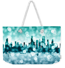 Chicago Illinois Skyline Weekender Tote Bag by Michael Tompsett