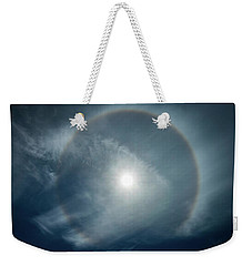 Weekender Tote Bag featuring the photograph 22 Degree Solar Halo by William Lee