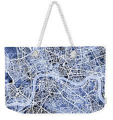 London England Street Map Weekender Tote Bag