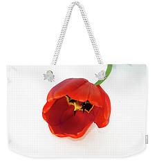 Red Tulip Weekender Tote Bag by Elvira Ladocki