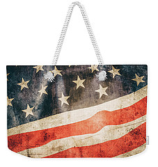Weekender Tote Bag featuring the photograph American Flag by Les Cunliffe