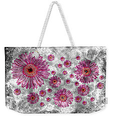22a Abstract Floral Painting Digital Expressionism Art Weekender Tote Bag