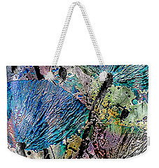 22a Abstract Floral Painting Digital Expressionism Weekender Tote Bag