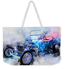 23 Model T Hot Rod Watercolour Illustration Weekender Tote Bag