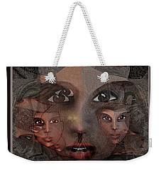 2327- Portrait Fractal 2017 Weekender Tote Bag