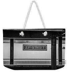 23rd Street Subway Nyc Weekender Tote Bag