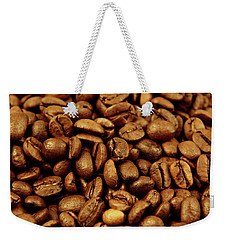 Weekender Tote Bag featuring the photograph Coffee Beans by Les Cunliffe