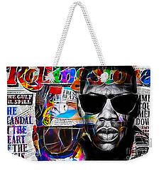 Jay Z Collection Weekender Tote Bag by Marvin Blaine
