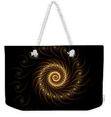Weekender Tote Bag featuring the digital art 24 Karat by Lea Wiggins