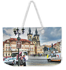 Weekender Tote Bag featuring the pyrography  Praha by Yury Bashkin