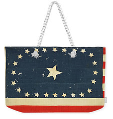 Weekender Tote Bag featuring the painting 25-star American National Flag by Artistic Panda