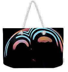 2696s-ak Zebra Striped Woman Rear View In Composition Style Weekender Tote Bag