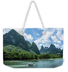 Lijiang River And Karst Mountains Scenery Weekender Tote Bag