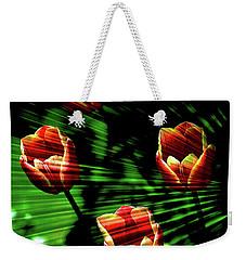 Texture Flowers Weekender Tote Bag