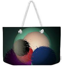 Weekender Tote Bag featuring the digital art 2986-2017 by John Krakora