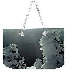 2m4415 A Ice Covered Trees Over Puget Sound Weekender Tote Bag