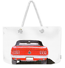 Weekender Tote Bag featuring the painting 1969 Mustang Convertible by Jack Pumphrey