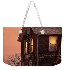 Weekender Tote Bag featuring the photograph Abandoned House by Jill Battaglia