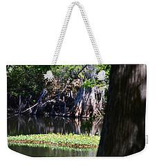 Across The River Weekender Tote Bag