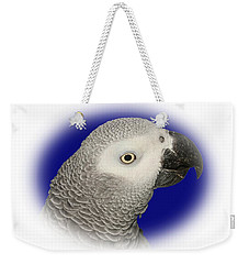 Weekender Tote Bag featuring the photograph African Grey Parrot  by Debbie Stahre