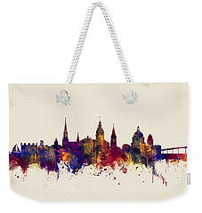 Weekender Tote Bag featuring the digital art Annapolis Maryland Skyline by Michael Tompsett