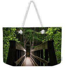 Weekender Tote Bag featuring the photograph At Bridge by Kevin Blackburn