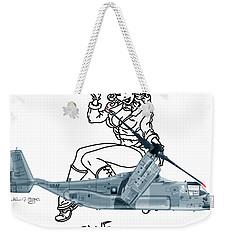 Weekender Tote Bag featuring the digital art Bell Boeing Cv-22b Osprey Mojave Maude by Arthur Eggers
