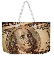 Weekender Tote Bag featuring the photograph Benjamin Franklin by Les Cunliffe