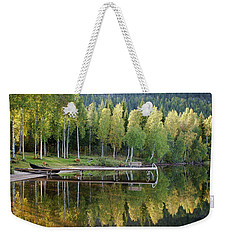 Birches And Reflection Weekender Tote Bag