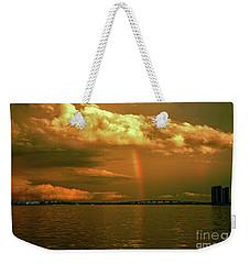 Weekender Tote Bag featuring the photograph 3- Blue Heron Bridge by Rainbows