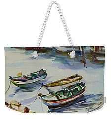 3 Boats I Weekender Tote Bag by Xueling Zou
