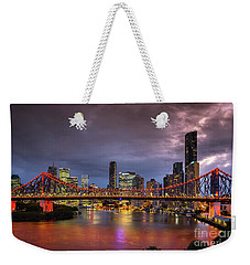 Brisbane City Skyline After Dark Weekender Tote Bag