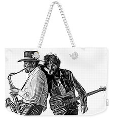 Bruce Springsteen Clarence Clemons Collection Weekender Tote Bag by Marvin Blaine