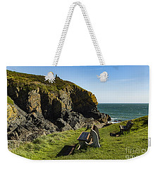 Weekender Tote Bag featuring the photograph Cadgwith Cove by Brian Roscorla