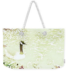 Canada Goose On A Stream In Autumn Weekender Tote Bag