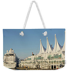 Canada Place Weekender Tote Bag by Ross G Strachan