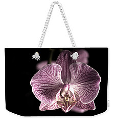 Close Up Shoot Of A Beautiful Orchid Blossom Weekender Tote Bag