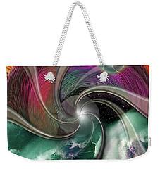Cosmic Surfer Weekender Tote Bag