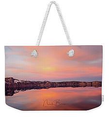 Crater Lake Oregon Weekender Tote Bag by Nick Boren