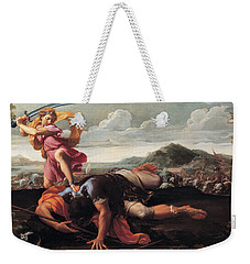 David And Goliath Weekender Tote Bag