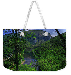 Weekender Tote Bag featuring the photograph Delaware Water Gap by Raymond Salani III